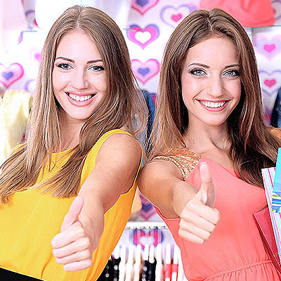 Two women shoppers.